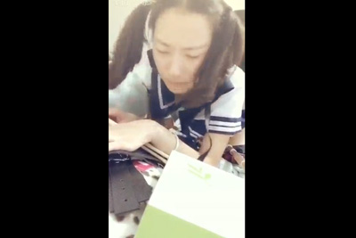 関西弁のJK娘が激SEXに意味不明の言葉で喘ぐ個人撮影のスマホ動画